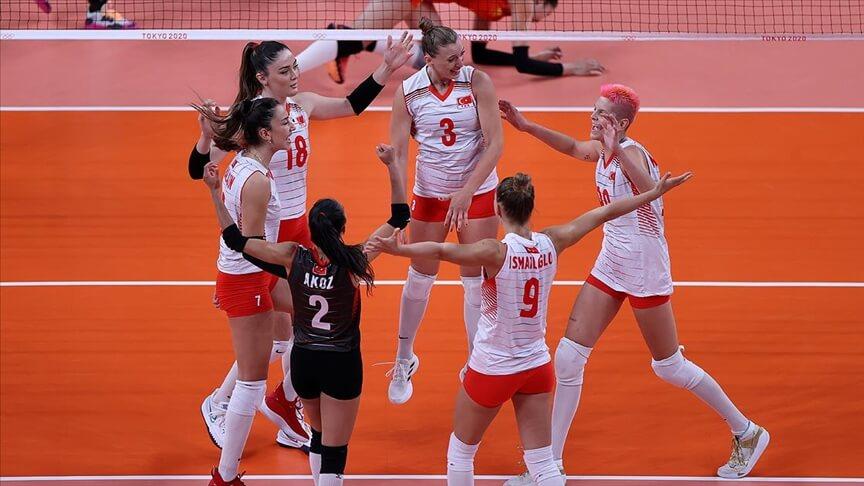 A Millî Kadın Voleybol Takımı, son olimpiyat şampiyonu Çin'i 3-0 yendi
