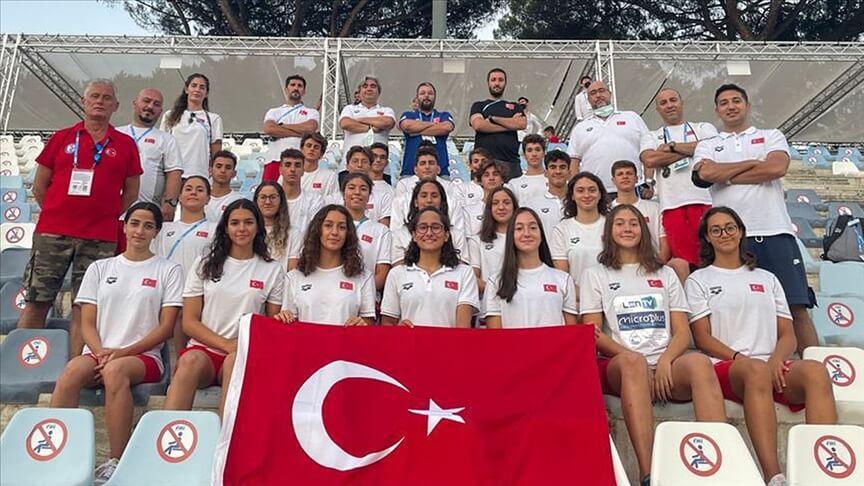Avrupa Gençler Yüzme Şampiyonası'nda milli takım 15 madalya kazandı